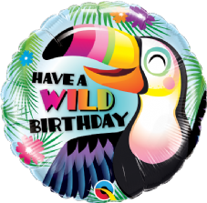 'Have A Wild Birthday' Toucan Foil Helium Balloon